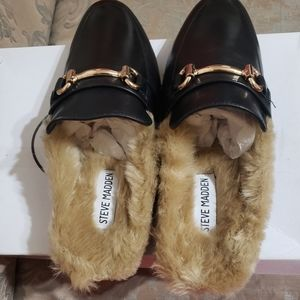 Faux Fur Slides by Steve Madden